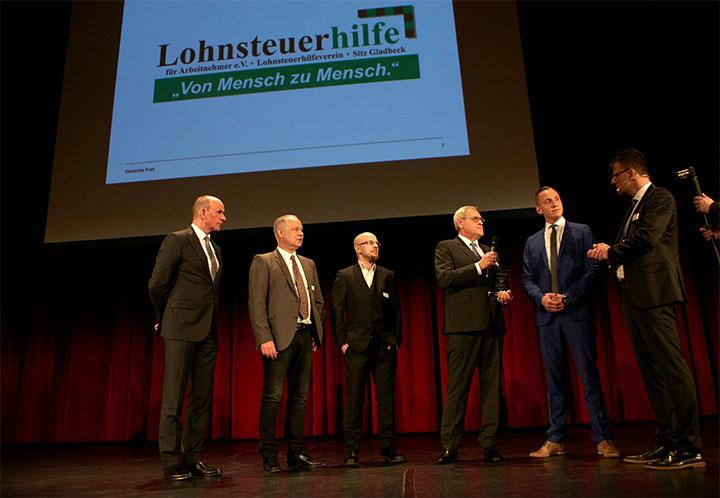 """Lohnsteuerhilfe wird mit dem Preis für """"Innovation & Technik"""" des Direkt Marketing Center der Deutsche Post AG ausgezeichnet"""