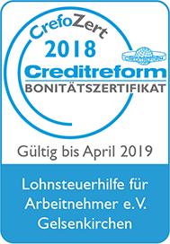 Logo Crefozert Creditreform Bonitätszertifikat 2018